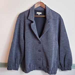 Collared Jacket  Gorgeous Charcoal Ribbed P. SZ M